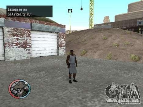 Enmascaramiento para GTA San Andreas segunda pantalla