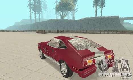 Ford Mustang II 1976 Cobra v. 1.01 para vista lateral GTA San Andreas