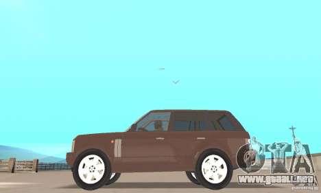 Range Rover Vogue 2004 para GTA San Andreas vista posterior izquierda