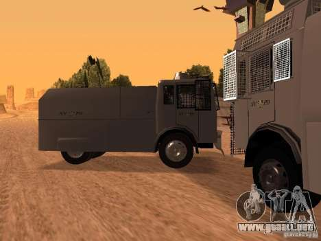 Un cañón de agua policía Rosenbauer para GTA San Andreas left