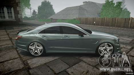 Mercedes Benz CLS 63 AMG 2012 para GTA 4 vista lateral