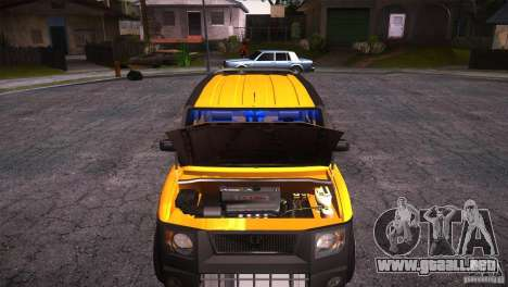 Honda Element LX para visión interna GTA San Andreas