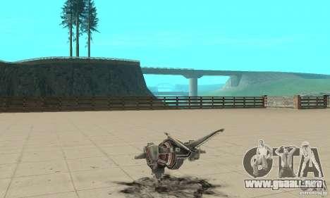 Moskit para GTA San Andreas vista posterior izquierda