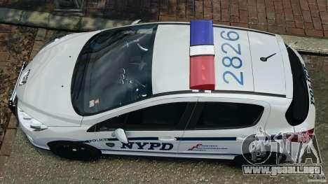 Peugeot 308 GTi 2011 Police v1.1 para GTA 4 visión correcta