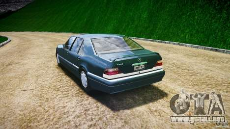 Mercedes Benz SL600 W140 1998 higher Performance para GTA 4 Vista posterior izquierda
