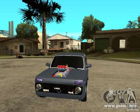 NIVA Mustang para GTA San Andreas vista hacia atrás