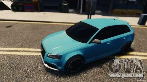 Audi RS3 Sportback V1.0 para GTA 4 Vista posterior izquierda