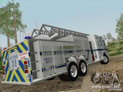 Pierce Puc Aerials. Bone County Fire & Ladder 79 para GTA San Andreas interior