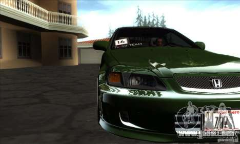 Honda Civic 1995 para visión interna GTA San Andreas