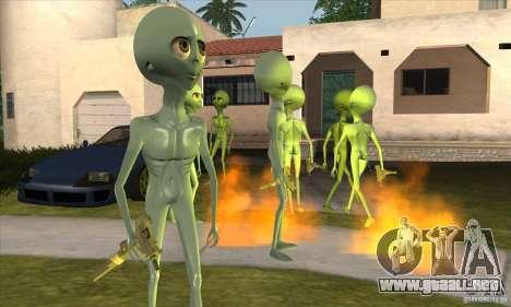 Alien para GTA San Andreas tercera pantalla