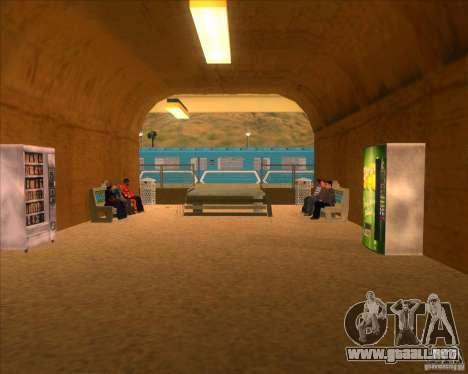 Las plataformas altas en las estaciones de tren para GTA San Andreas novena de pantalla