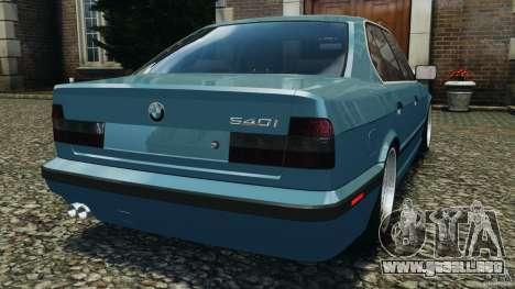 BMW E34 V8 540i para GTA 4 Vista posterior izquierda