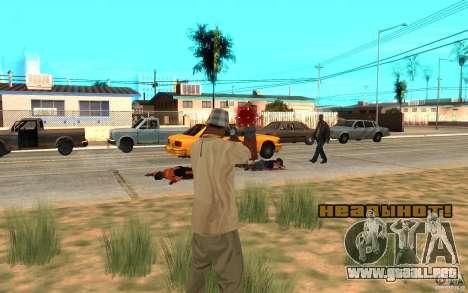 En la cabeza para GTA San Andreas segunda pantalla