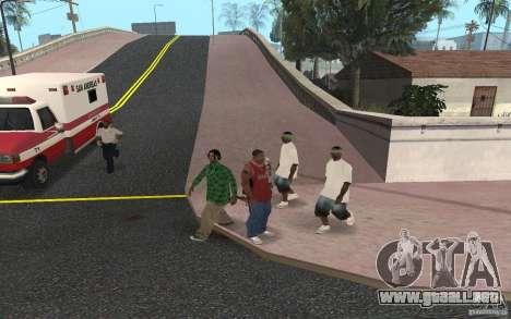 Skins Grove Street para GTA San Andreas quinta pantalla
