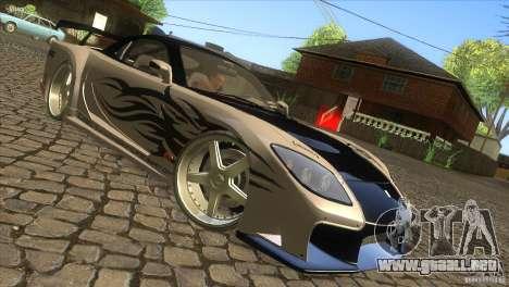 Mazda RX-7 Veilside Logan para la visión correcta GTA San Andreas