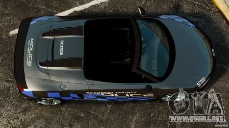 Audi R8 GT Spyder 2012 para GTA 4 visión correcta