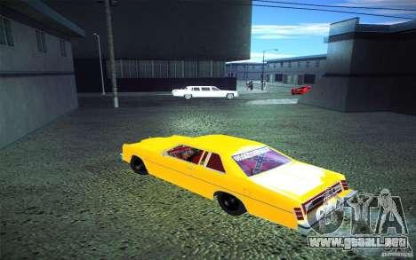 Ford LTD Coupe 1975 para visión interna GTA San Andreas