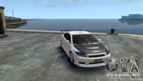 Toyota Scion para GTA 4 Vista posterior izquierda