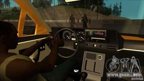 Volkswagen Santana GLS para visión interna GTA San Andreas