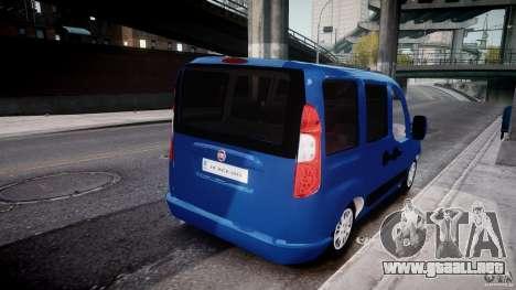 Fiat Doblo 1.9 2009 para GTA 4 vista interior