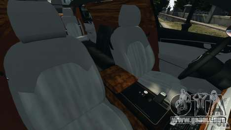 Audi A8 Limo v1.2 para GTA 4 vista interior