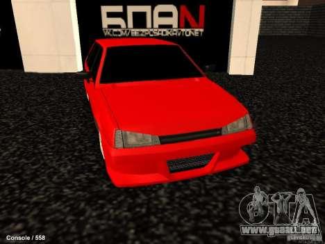 VAZ 2109 Opera Turbo para la visión correcta GTA San Andreas