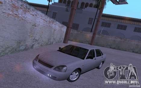LADA Priora 2170 Brend para GTA San Andreas vista hacia atrás