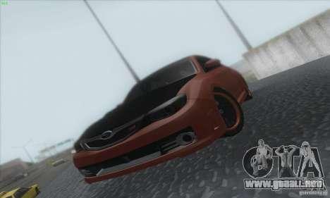 Subaru Impreza WRX STi para visión interna GTA San Andreas