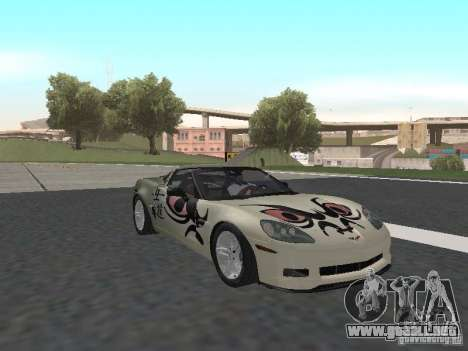 Chevrolet Corvette Z06 para la vista superior GTA San Andreas