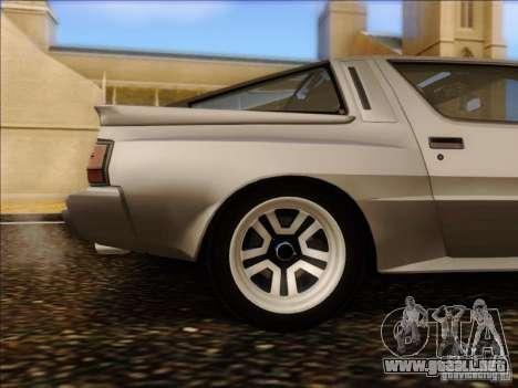 Mitsubishi Starion ESI-R 1986 para visión interna GTA San Andreas