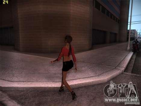 Skin Girl NFS PS para GTA San Andreas segunda pantalla