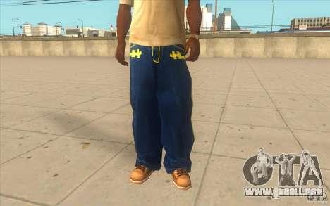 Karl Kan Puzzle Jeans para GTA San Andreas