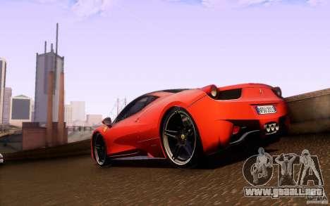 Ferrari 458 Italia Final para GTA San Andreas