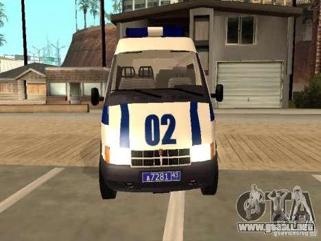 GAZ Sobol 2217 policía para la visión correcta GTA San Andreas