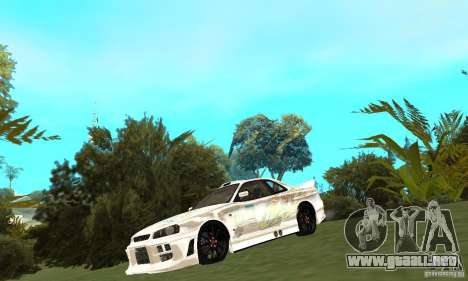 Nissan SkyLine R34 Tunable V2 para GTA San Andreas left