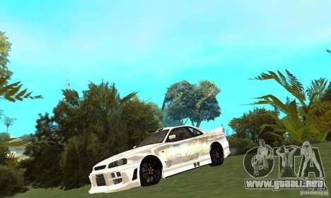 Nissan SkyLine R34 Tunable V2 para GTA San Andreas left