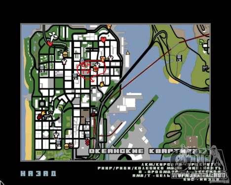 NEMESIS para GTA San Andreas sucesivamente de pantalla