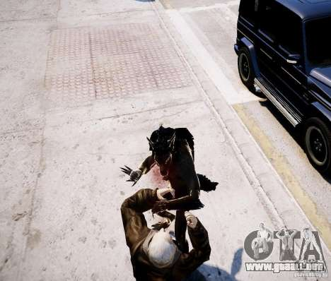 Werewolf from Skyrim para GTA 4 quinta pantalla