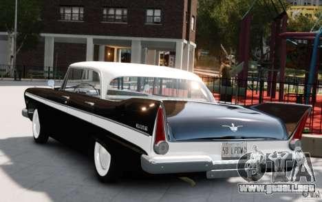 Plymouth Belvedere Sport Sedan 1957 para GTA 4 left