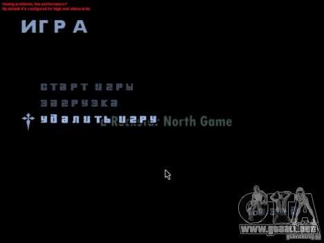 Una pantalla de video en el menú principal para GTA San Andreas segunda pantalla