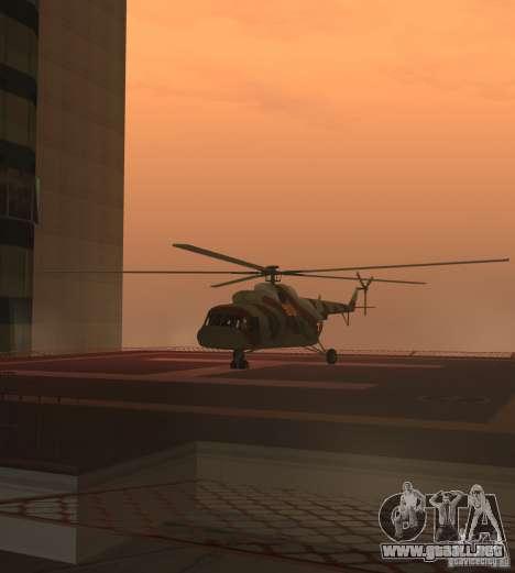 Militar MI-17 para GTA San Andreas vista posterior izquierda