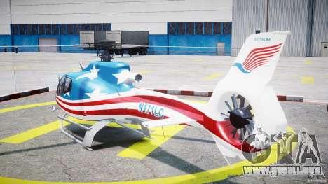 Eurocopter EC 130 B4 USA Theme para GTA 4 Vista posterior izquierda