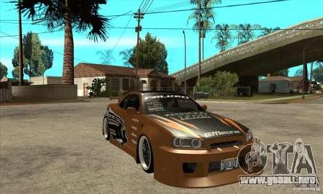 Nissan Skyline GTR - EMzone B-day Car para GTA San Andreas vista hacia atrás