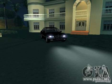 BMW 740I E38 (RUS) para visión interna GTA San Andreas