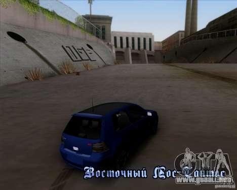 Volkswagen Golf GTi 2003 para la vista superior GTA San Andreas