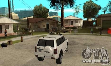Nissan Patrol 2005 para la visión correcta GTA San Andreas