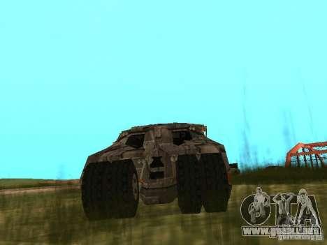 Batman Car para la visión correcta GTA San Andreas
