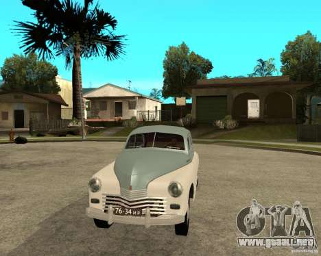 GAZ M20 Pobeda para GTA San Andreas vista hacia atrás