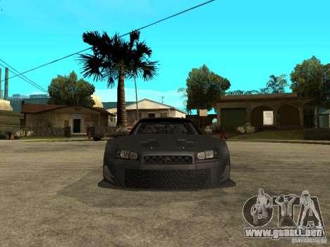 Nissan Skyline R34 GT-R para la visión correcta GTA San Andreas