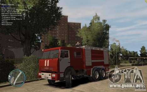 Kamaz bombero para GTA 4 left
